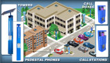 Llamada de emergencia y dirección pública para estacionamiento, estacionamiento Teléfono