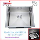 単一ボールのハンドメイドの流し、R10は手作りする流し、台所の流し(HMRS2218)を
