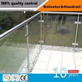 Railing балкона нержавеющей стали стеклянный, Railing лестницы стеклянный