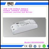 Non-Tremola il fattore di alto potere di 36W 900mA, l'alimentazione elettrica del LED, il trasformatore del LED, driver costante della corrente LED