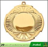 2016 la medalla caliente de la concesión del metal del medallón de la venta barato 50-150m m con la cinta, se divierte la medalla en blanco con el sostenedor