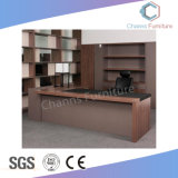 Modern Office Furniture 50mm Executive Table with Side Desk (CAS-MD18A31)
