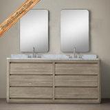Тщета ванной комнаты классицистического шкафа ванной комнаты твердой древесины конструкции установленная