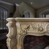 Camino francese del marmo di stile con buona qualità Mano-Intagliata T-6571