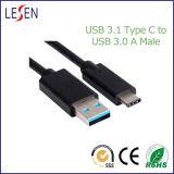 USB C à USB un mâle 3.0 aux caractéristiques mâles et au câble de remplissage