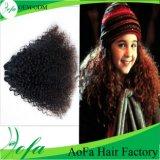 最上質の加工されていないRemyの人間の毛髪のWeftバージンのブラジル人の毛