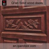 Porte de sécurité en bois massif en chêne