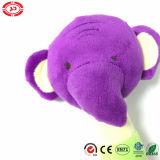Elefante Shape Purple Head com Cirle Toy Sounds Baby Rattle