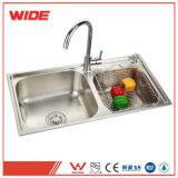 La Chine 304 évier en acier inoxydable Drainboard Custom-Made double évier de cuisine