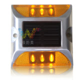 Goujon de clignotement approuvé de route d'énergie solaire de réflecteur du jaune DEL 3m de la CE
