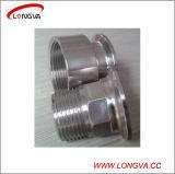 衛生ステンレス鋼の造られた三クランプによって通されるアダプター