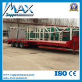 Les essieux 2/3 30t-120t faible fret lit plat remorque de camion semi-remorque