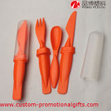 Umweltfreundliches Plastic Camping Cutlery Set mit Spoon Knife Fork