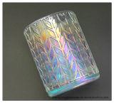 Íon colorido claro por atacado que chapeia suportes de vela de vidro desobstruídos