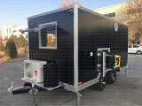 Kebab Crepeice Nata Café móveis carrinho de reboque de restauração