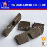 El tipo único piedra de la eficacia alta U consideró el segmento del diamante del granito del segmento del corte de la piedra del segmento de la lámina