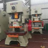 Jh21 máquina aluída da imprensa de perfurador mecânico do quadro da série C única com uma potência de 100 toneladas