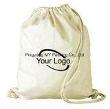 Sac organique promotionnel de coton de sac à dos de sac de cordon de coton