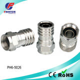 Rg59 RG6 Crimp CATV Connector for Caoxial Cable (pH3-1057)