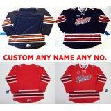 Новая настройка Ohl Oshawa генералов Джерси мужская дети женщин синего цвета красный персонализированные сшитое любое имя № Хоккей футболках Nikeid Goalit разрез