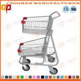Вагонетка покупкы супермаркета бакалеи магазина Convience провода 2 ярусов (Zht211)