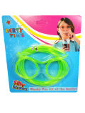 PVC divertente Party Promotional Straw di Glasses Straws Food Grade con Blister Packing