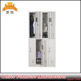Jas-029 vendita calda Africa guardaroba dell'acciaio del panno dell'armadietto del metallo degli a buon mercato 8 portelli