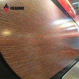 2018 Produits populaires texture en bois décoration murale en aluminium de bord