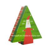 포장 서류상 모양 선물 상자가 크리스마스에 의하여 수수께끼 농담을 한다