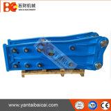 Geöffneter eingehangener hydraulischer Exkavator-Unterbrecher des Meißel-Durchmesser-135mm