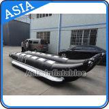 Barca di banana nera gonfiabile di figura del delfino di colore, barca di banana trainabile gonfiabile