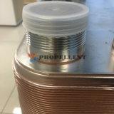 Condensatore brasato dello scambiatore di calore del piatto del rame di piatti dell'acciaio inossidabile per i sistemi della pompa termica
