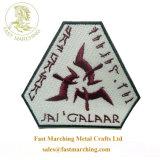 良質カスタム黒いSecuritasはロゴによって刺繍されるバッジを所有するために修繕する