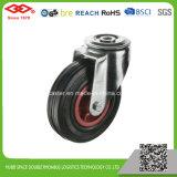 200mm orifício do parafuso de borracha preta Castor roda (G102-31D200X50)