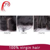 13*4バージンの人間のブラジルのRemyの毛の閉鎖