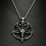 Halsband van de Tegenhanger van de Geit van de Schedel van de God van Pentagram van de manier de Pan Hoofd