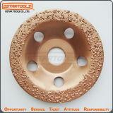 Caixa redonda de 5 polegadas do carboneto de tungsténio em forma de mós abrasivos