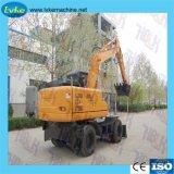 Excavadora de ruedas China exporta a países en desarrollo 12t Excavadoras de ruedas
