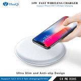 速の熱販売のチーのiPhoneまたはSamsung/LG/Huawei/Xiaomi/Nokia/Sonnyのための無線携帯電話の充電器か充満パッドまたは立場または端末