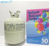 13.4L 22,4 L o cilindro de gás hélio com lâmina de caricaturas de balões