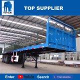 Titan-Fahrzeug - 40FT Behälter-LKW-Flachbettschlußteil mit pneumatischen Bremsen und Schutzwand