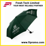 Custom 3 Folding Manual Open Umbrella with Screen Print