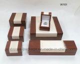 Rectángulo de empaquetado del reloj de madera de lujo de encargo del brazalete