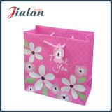 """아이보리페이퍼를 """"감사한다"""" 꽃이 핀다 쇼핑 선물 종이 봉지를 주문을 받아서 만드십시오"""