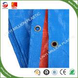 Lona de PE azul clara refeições fardos de HDPE de tecido de malha China PE encerado laranja azul