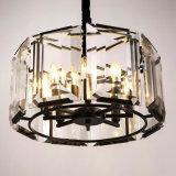 Het Europese Decoratieve Ijzer van het Restaurant om de Transparante Lamp van de Tegenhanger van het Kristal