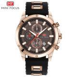 Logotipo personalizado OEM hombres reloj de pulsera de cuarzo en la fábrica de Shenzhen