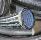 Экранирующая оплетка из нержавеющей стали охватывать гофрированную трубку из тефлона TEFLON шланг