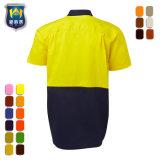 Hallo Vis Workwear 2 van het Katoenen van de Koker van de Toon het Korte Overhemd Werk van de Boor