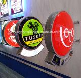 Cercle de la pièce d'affichage personnalisé acrylique Boîte à lumière